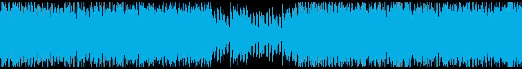 ピアノの旋律が印象的な4つ打ち曲の再生済みの波形