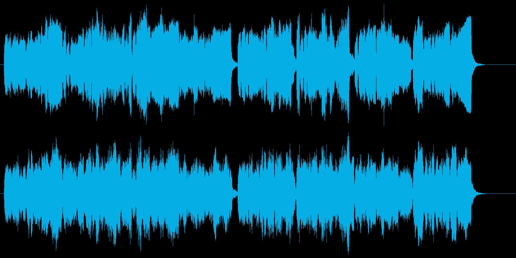 4本のトロンボーンが奏でるアンサンブルの再生済みの波形