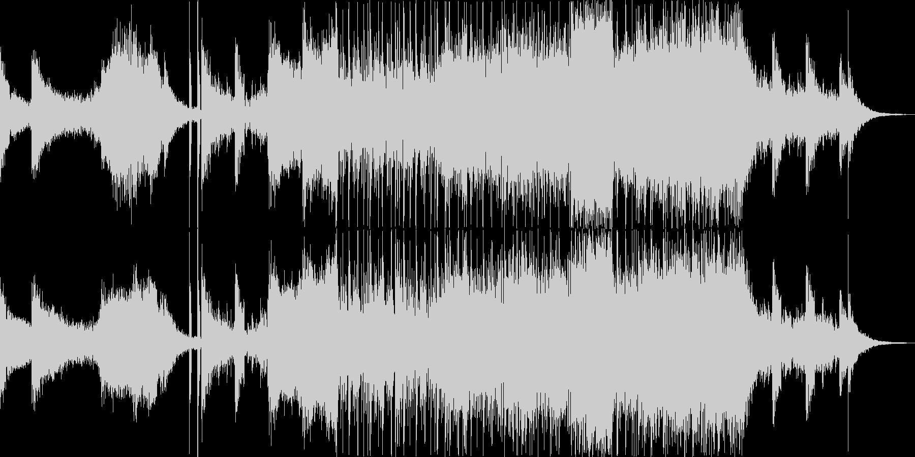 時代劇の殺陣のBGMとしての交響曲の未再生の波形