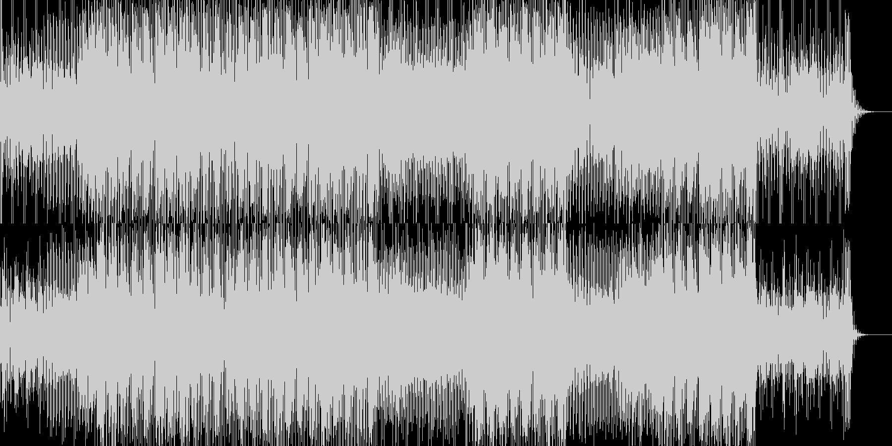ゲームっぽいリズムのテクノ系BGMの未再生の波形