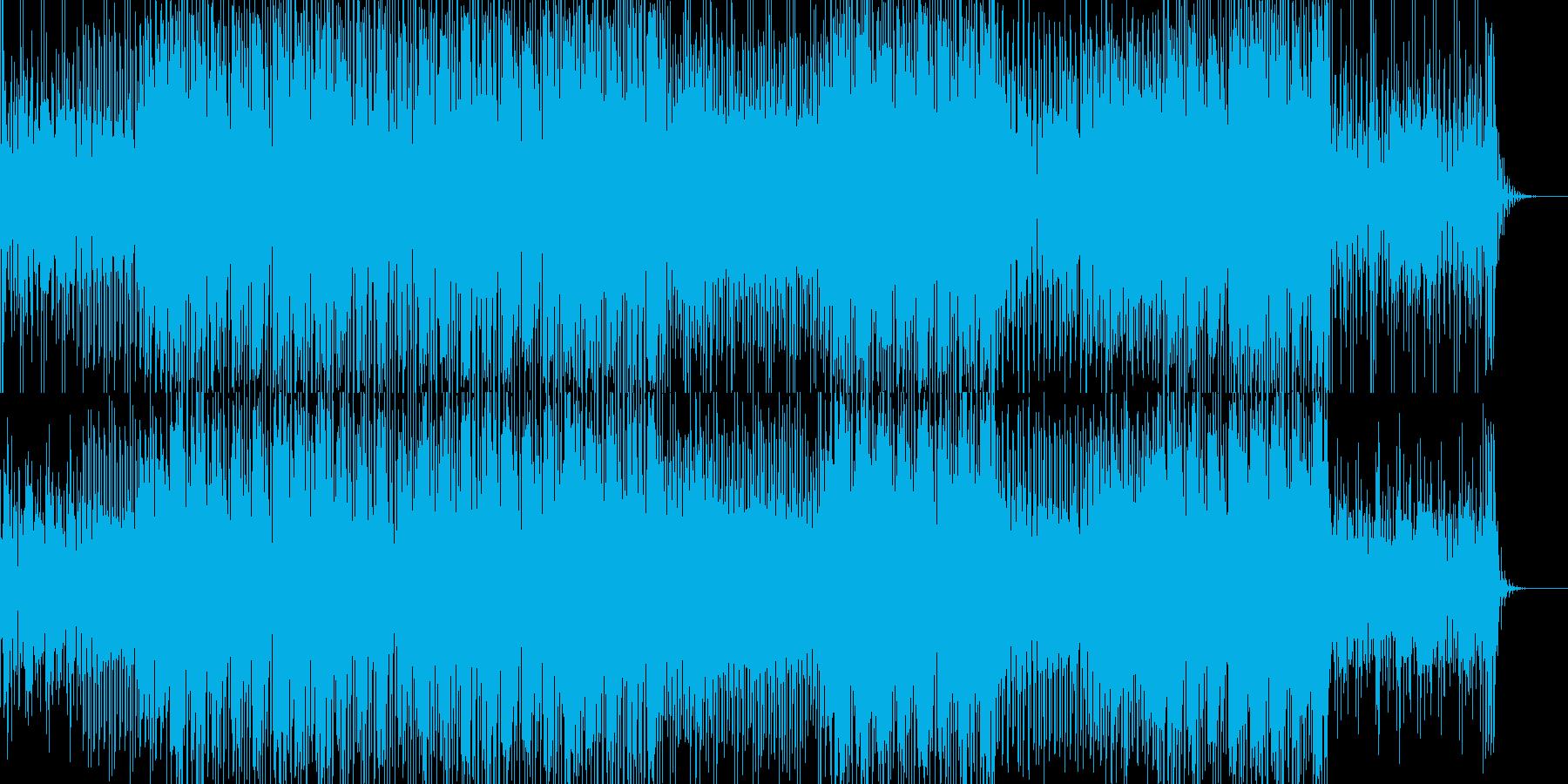 ゲームっぽいリズムのテクノ系BGMの再生済みの波形