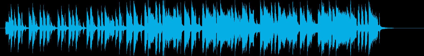 軽快で緩やかなメルヘンポップジングルの再生済みの波形