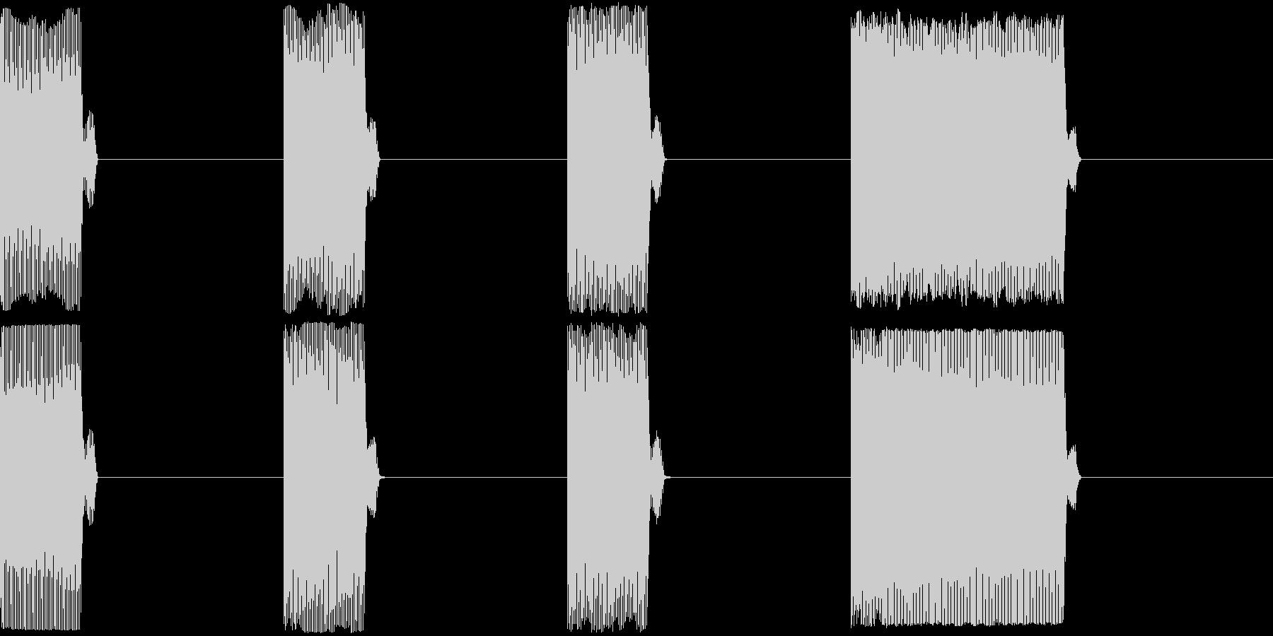 GP レースのスタートカウントダウン 1の未再生の波形