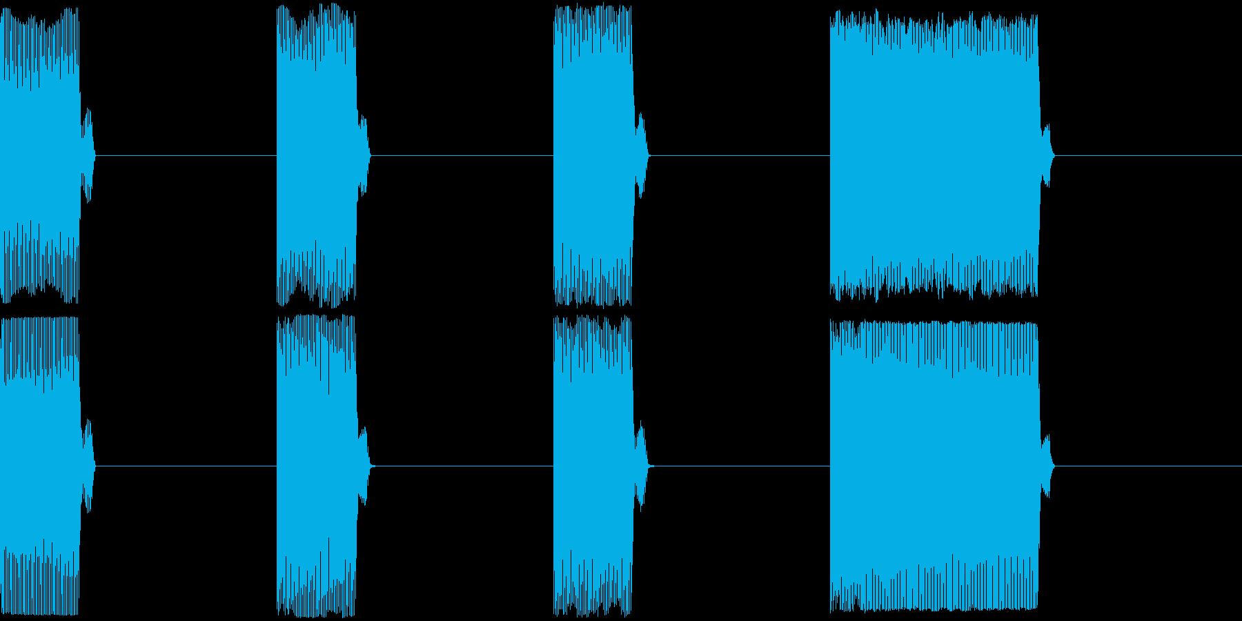 GP レースのスタートカウントダウン 1の再生済みの波形