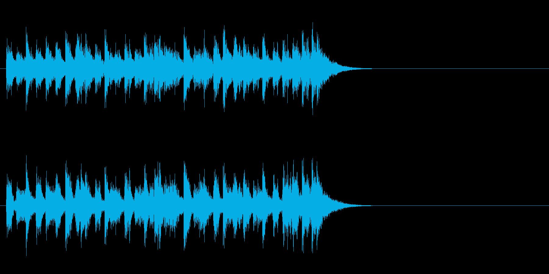 ジングル(ファンキーな感じ)の再生済みの波形