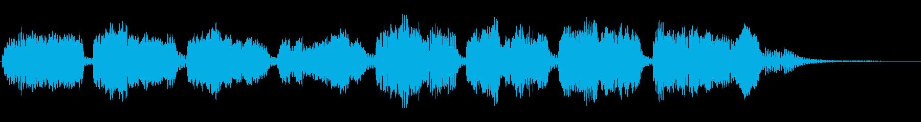 唱歌「たなばたさま」をフルートでの再生済みの波形