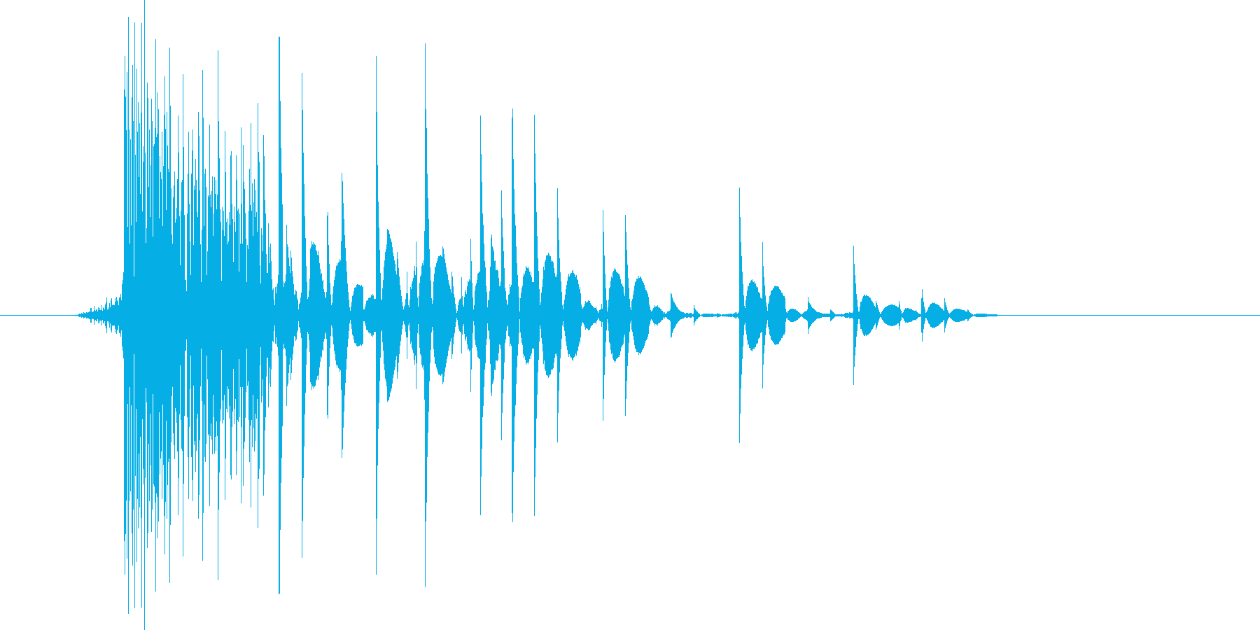 ゲーム(ファミコン風)爆発音_042の再生済みの波形