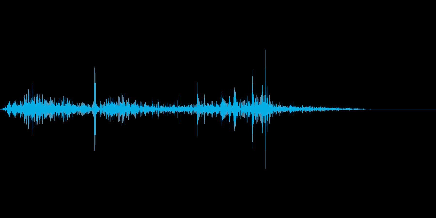 コツッ(足音)の再生済みの波形