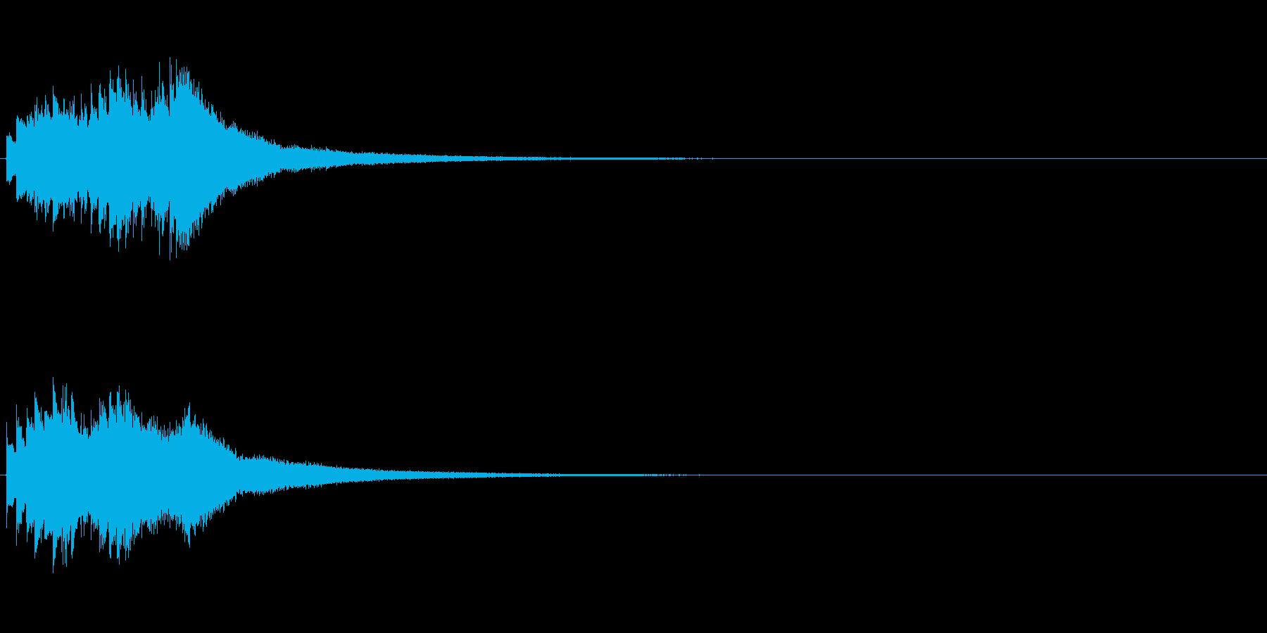 シャララララン(鉄琴を低音から高音へ)の再生済みの波形