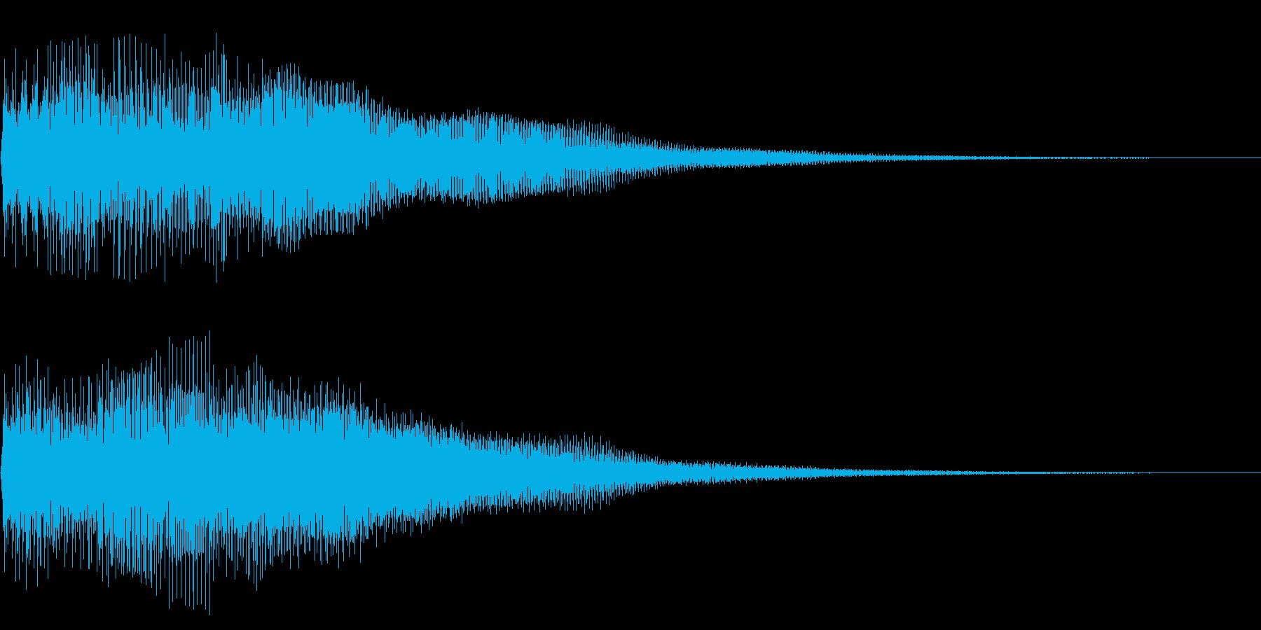 ベーシックな明るいボタン音ですの再生済みの波形