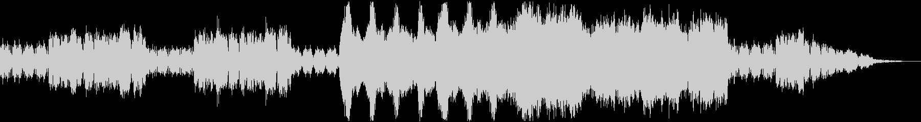 ワクワクしてくるBGMの未再生の波形