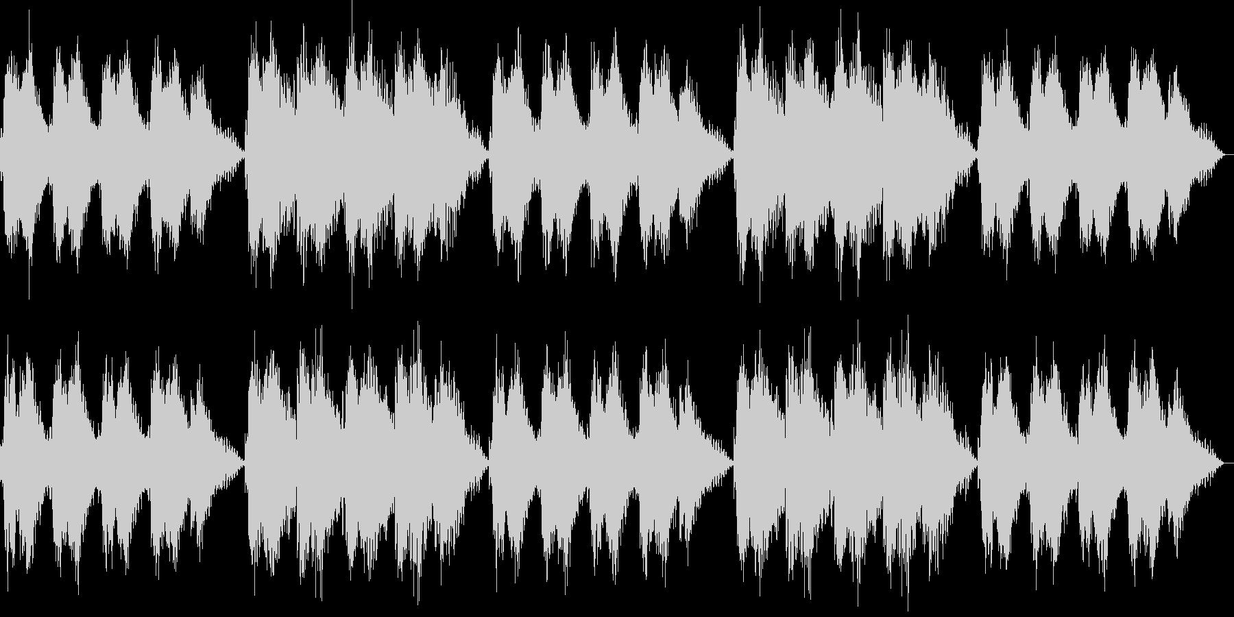 心地よい静けさの電子音による清涼音楽の未再生の波形
