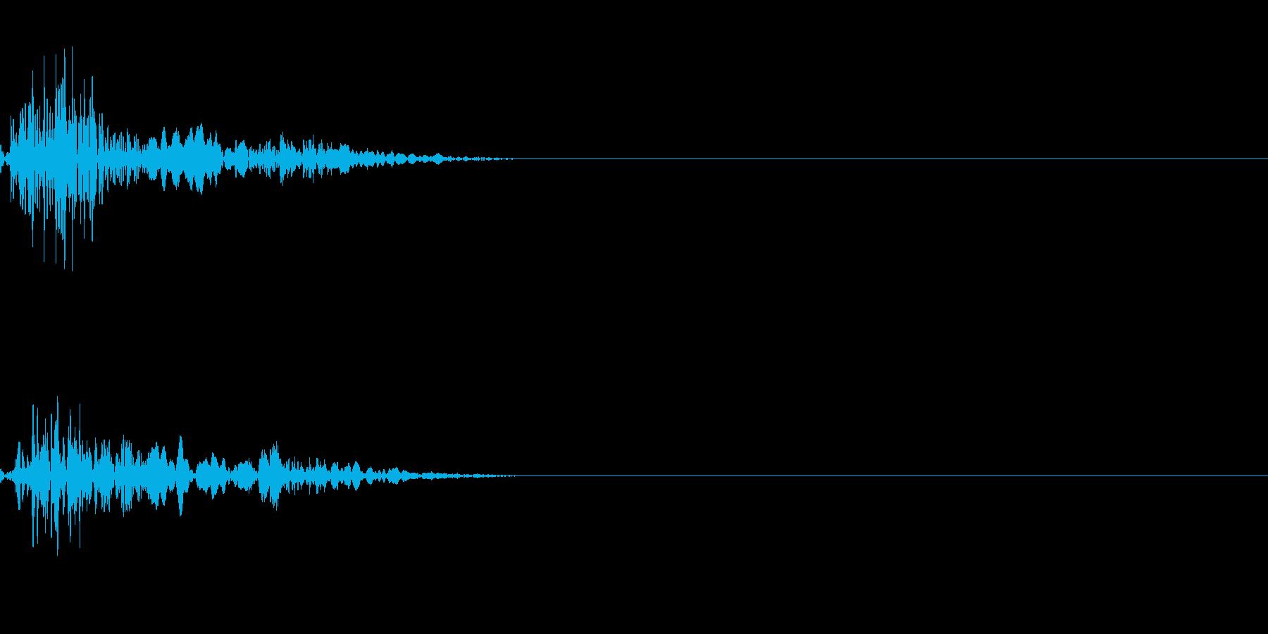 心臓の音(胎内/ドックン)の再生済みの波形