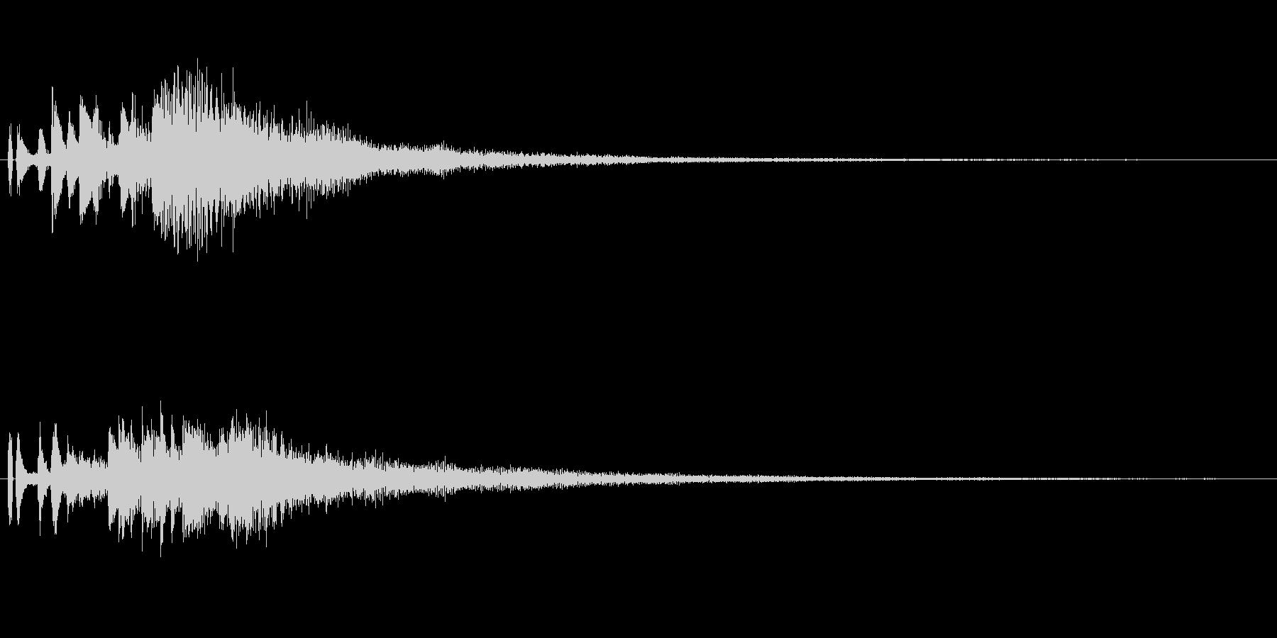 しゃらららー ピアノのグリス音の未再生の波形