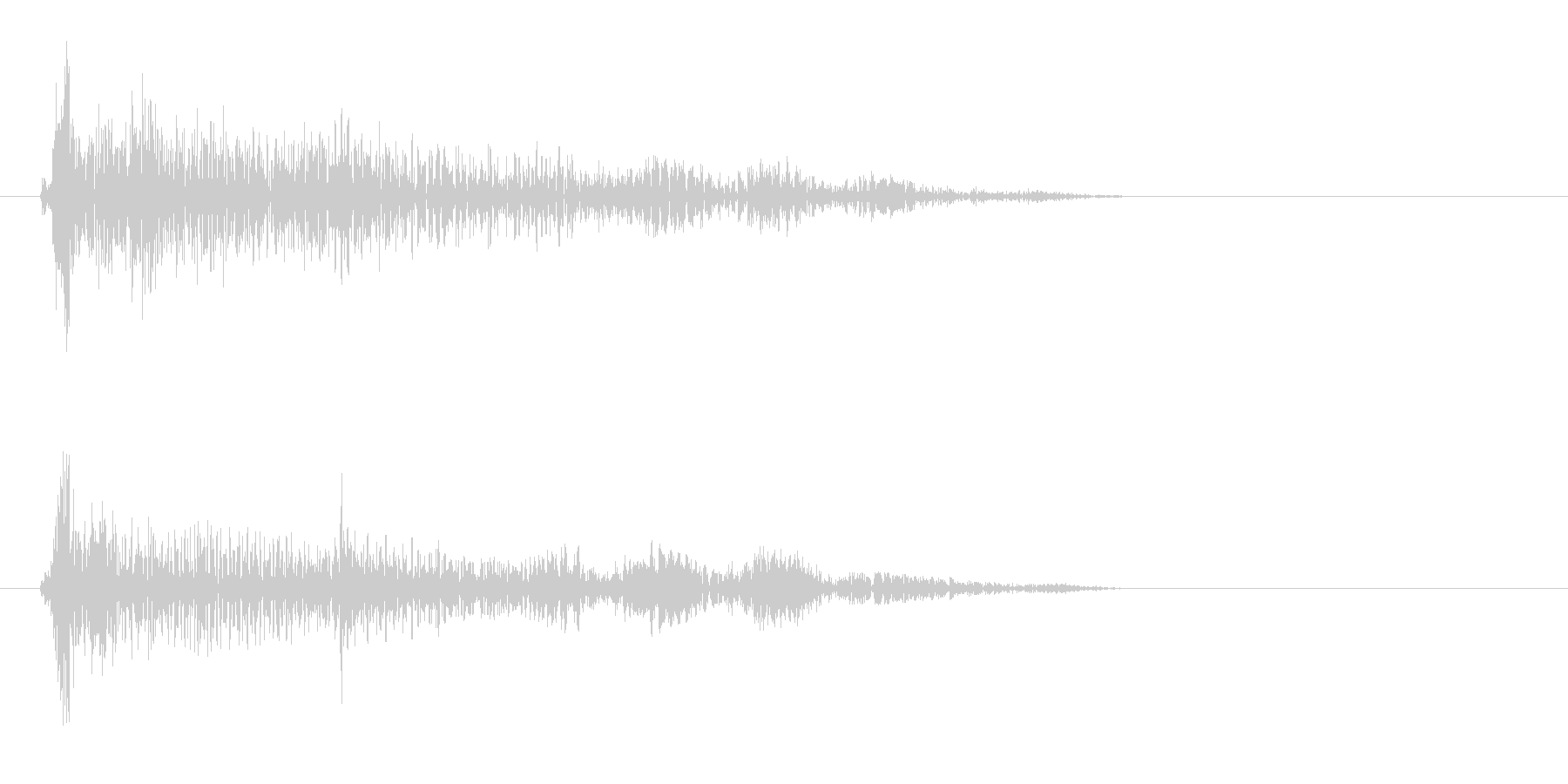 カーンというプラスチック音の未再生の波形