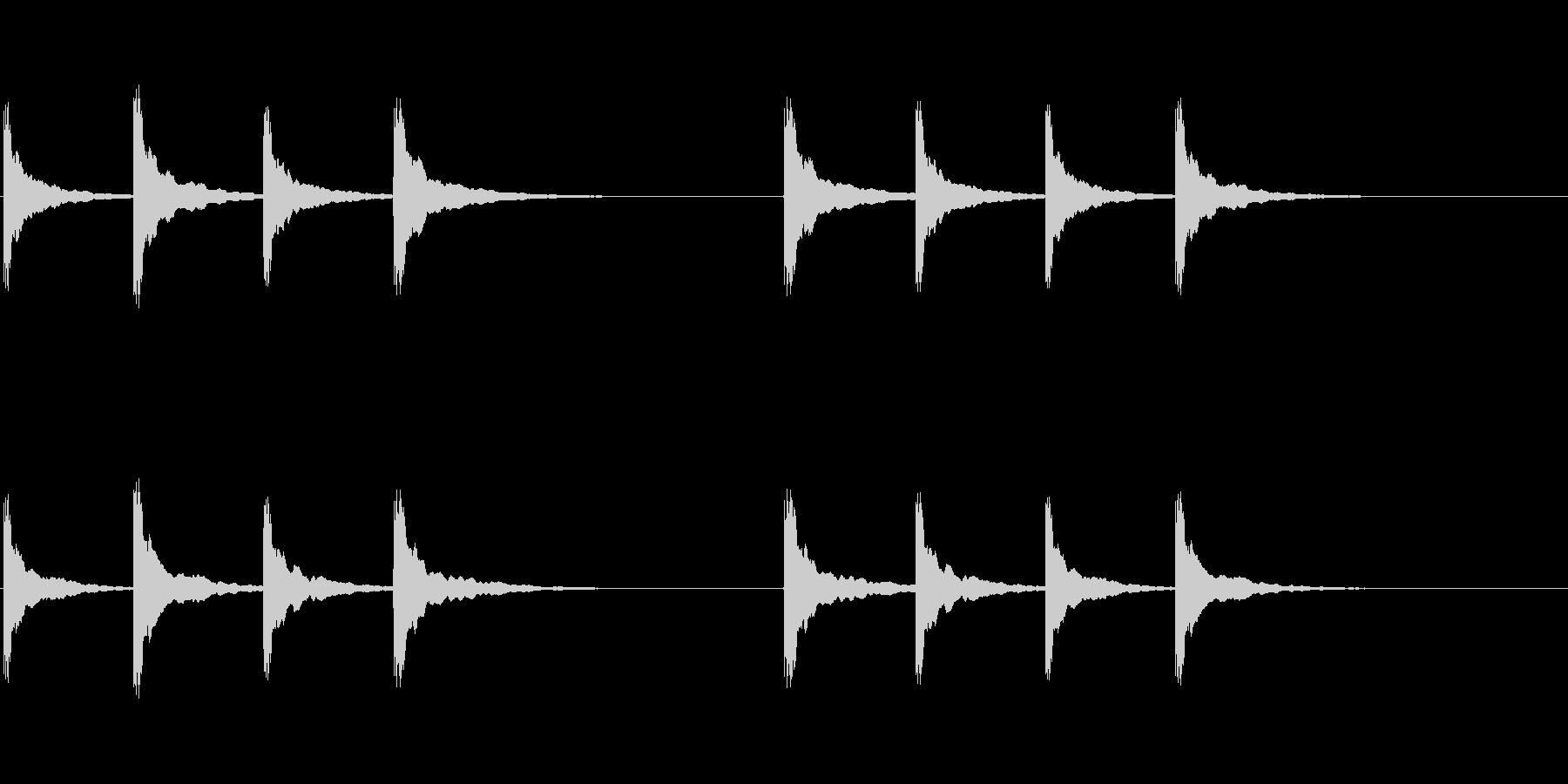 ピンポンパンポン (3)の未再生の波形