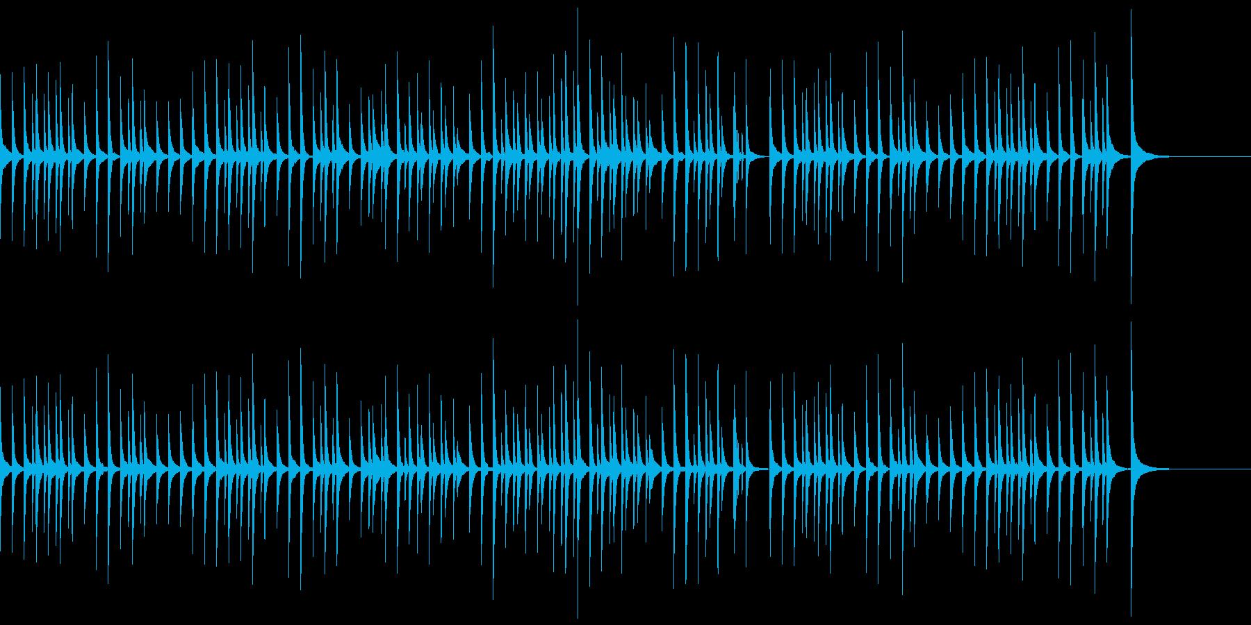 軽快で可愛らしい映像用木琴BGMの再生済みの波形