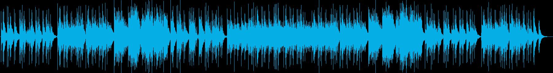 優しいメロディーピアノギターサウンドの再生済みの波形