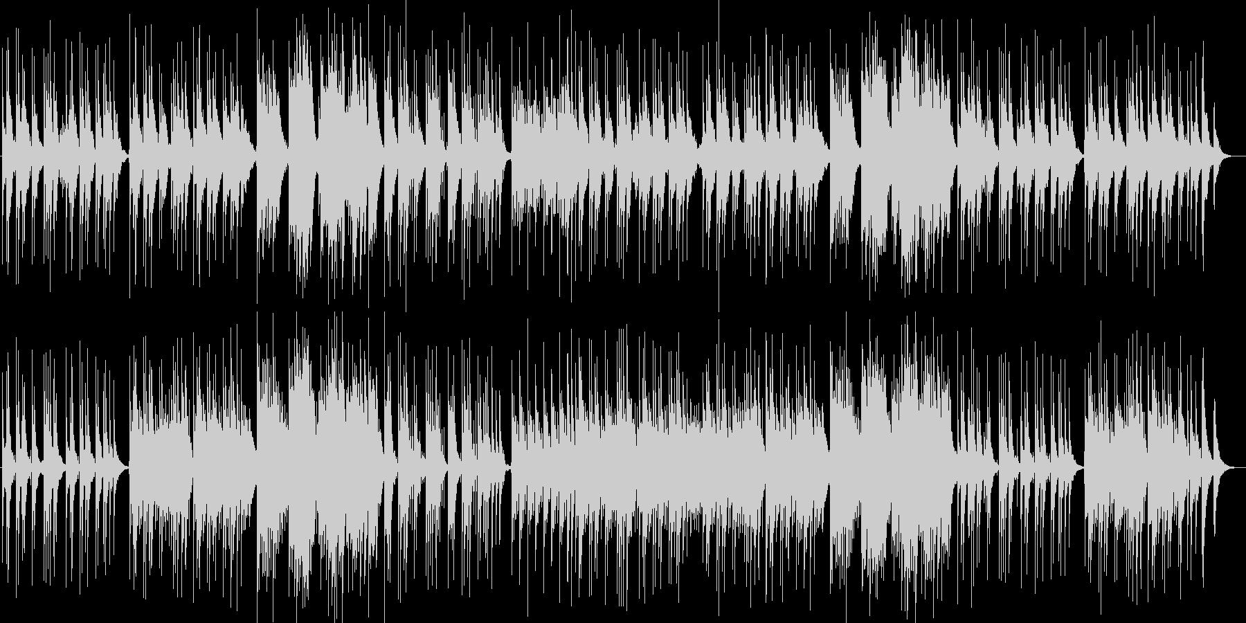 優しいメロディーピアノギターサウンドの未再生の波形
