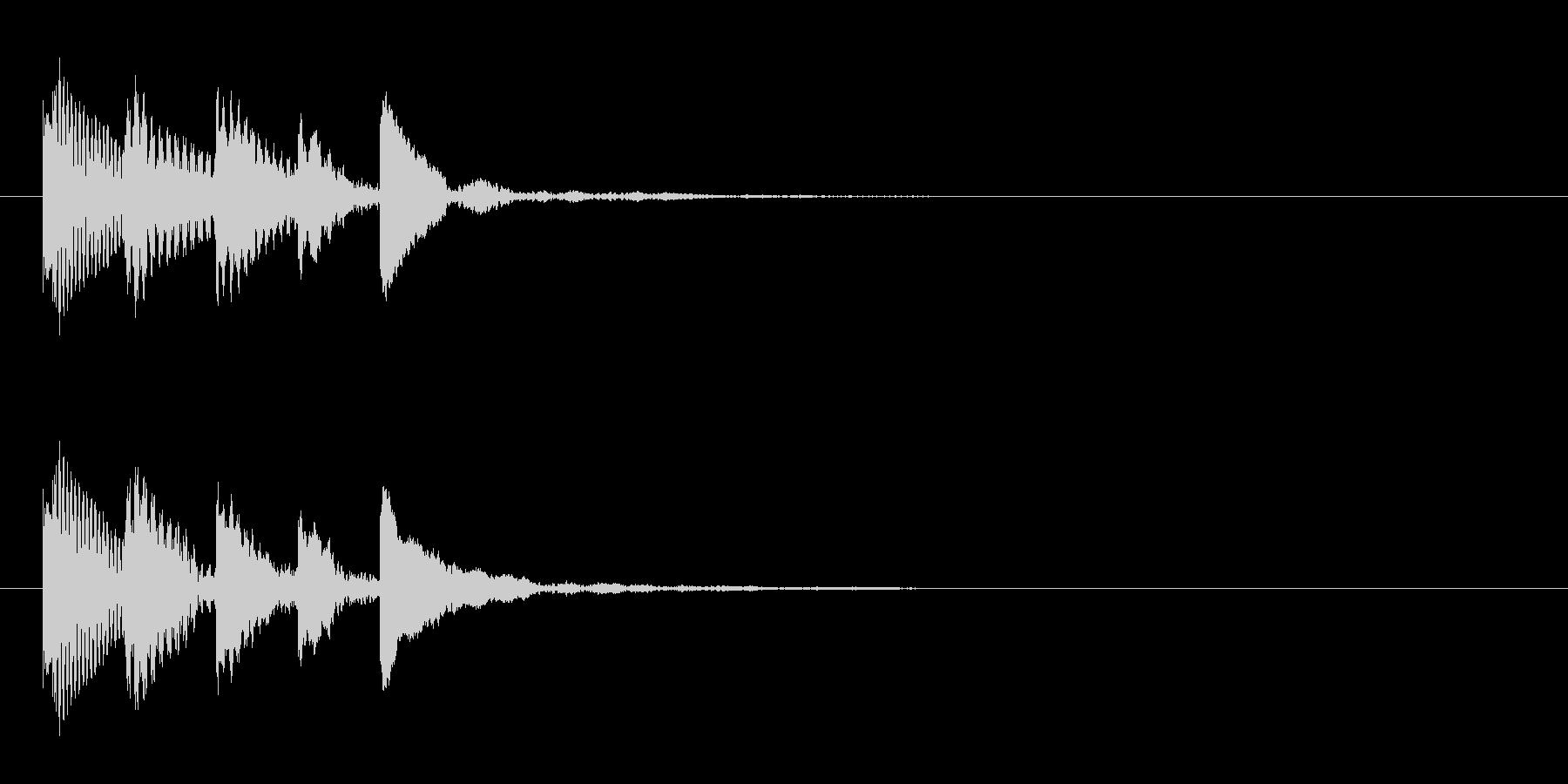 どうぶつ3 スタート音 豪華決定音の未再生の波形