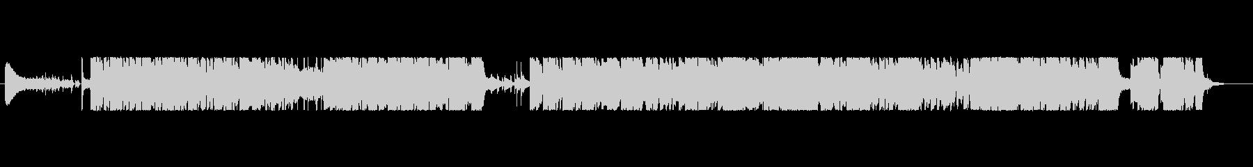 超軽快なジャズのビッグバンド風BGMの未再生の波形