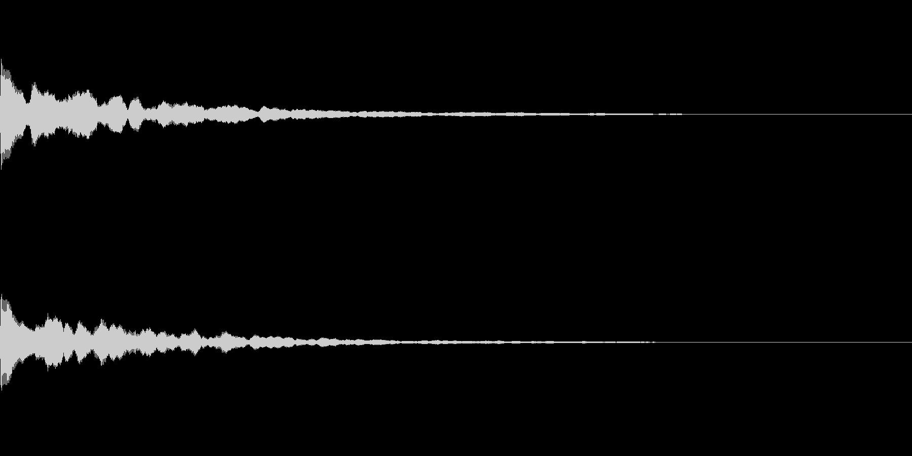 ポーン(ふとした気づきや、アイキャッチ)の未再生の波形