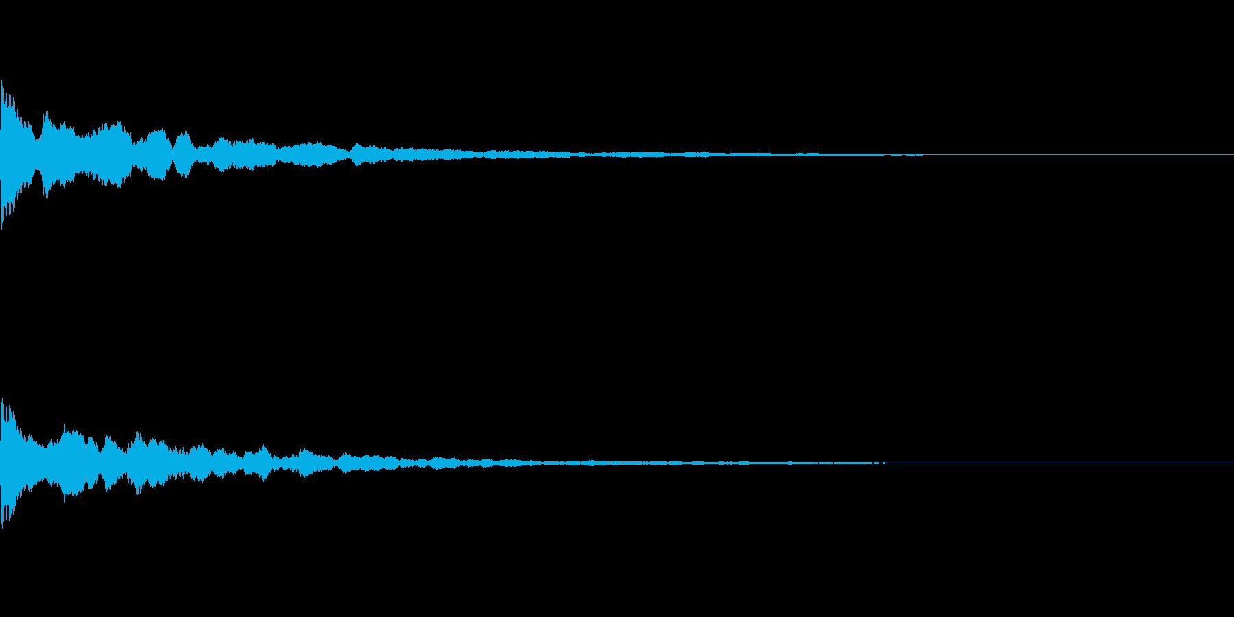 ポーン(ふとした気づきや、アイキャッチ)の再生済みの波形