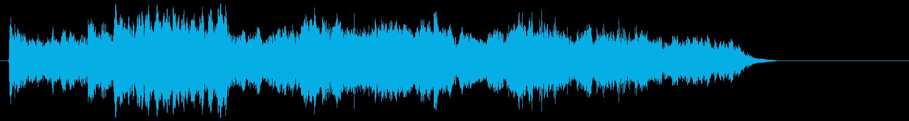 ゆったりとしとやかなピアノジングルの再生済みの波形