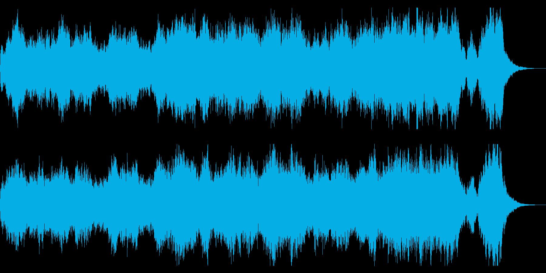 ファンタジーな短めなオーケストラBGM の再生済みの波形