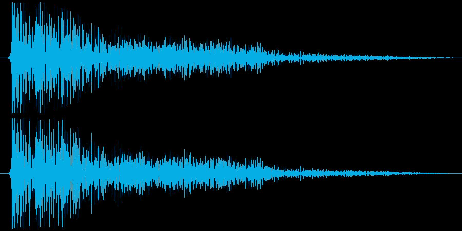 ドカン、ボン(爆発音) SE・効果音の再生済みの波形