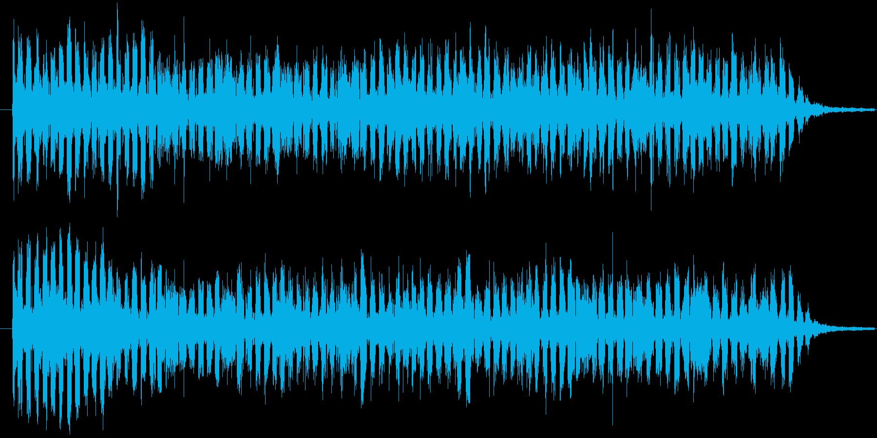 「キュイーン」とエネルギーを溜める音の再生済みの波形