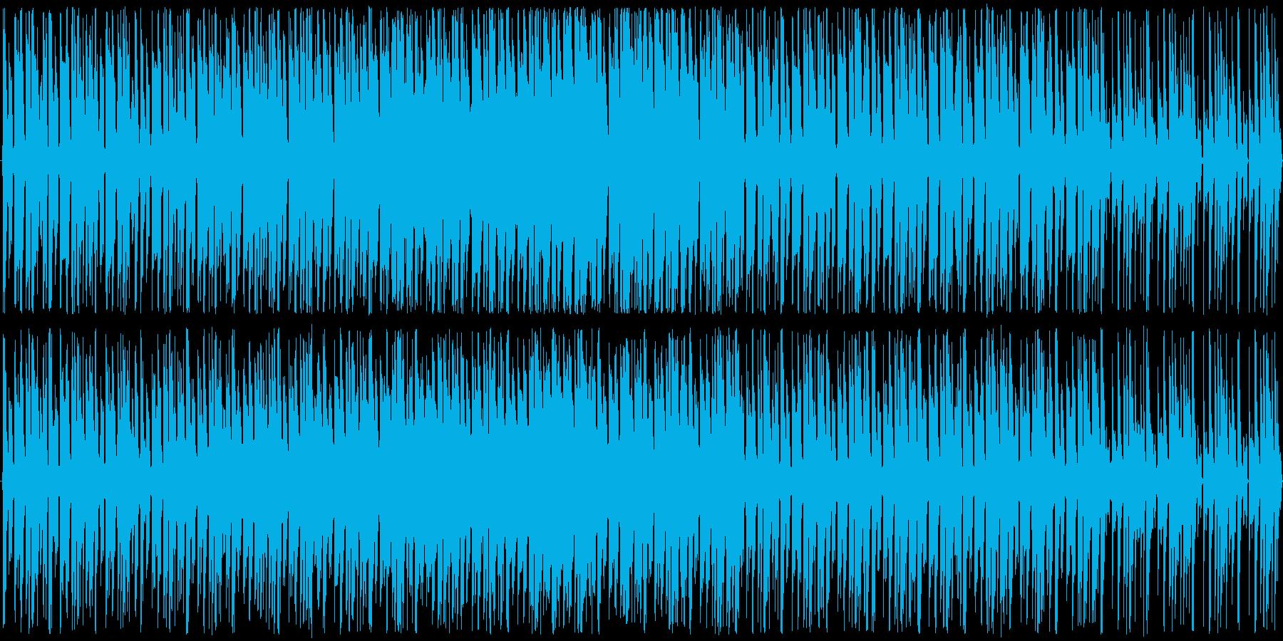ちょっとコミカルなバトルシーンの曲の再生済みの波形