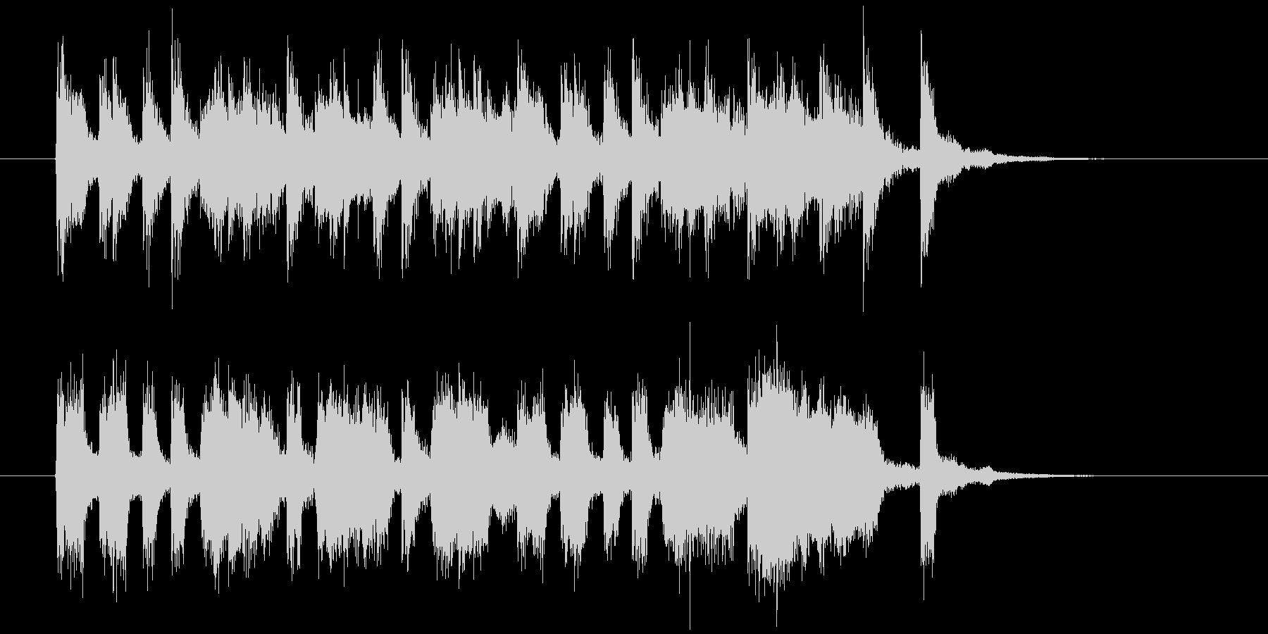楽しげでリズミカルなシンセサウンド短めの未再生の波形