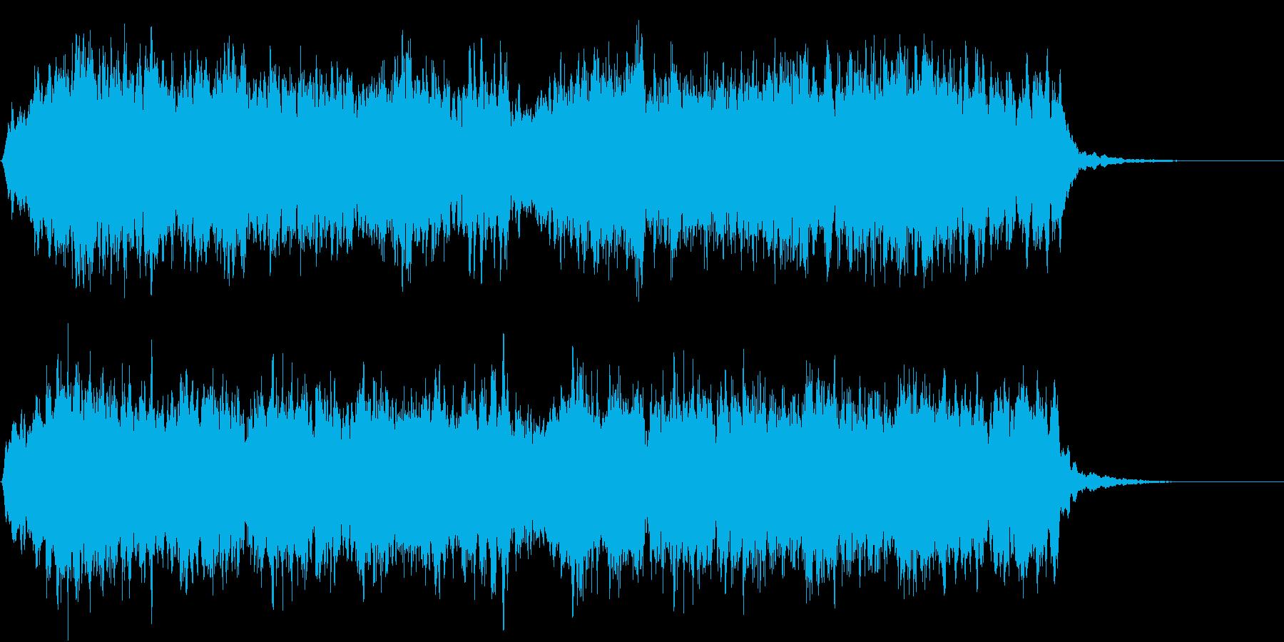 ゲームオーバーの効果音(コーラス)の再生済みの波形