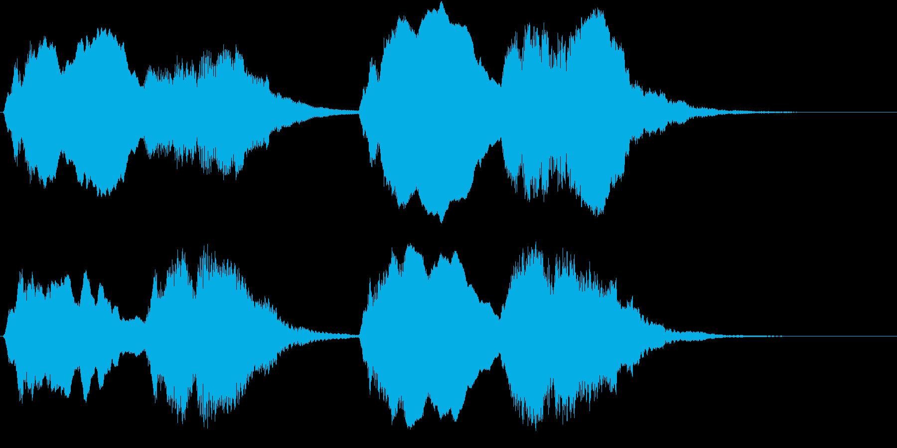 J・S・バッハ作「トッカータとフーガ …の再生済みの波形