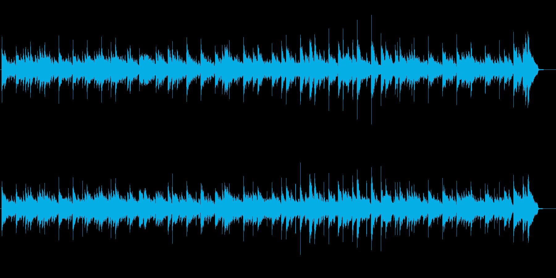 落ち着いたアンビエントBGMの再生済みの波形