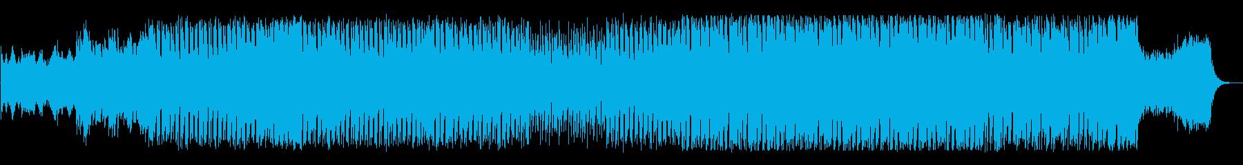 未来的なテクノ調でリズム感のある曲の再生済みの波形