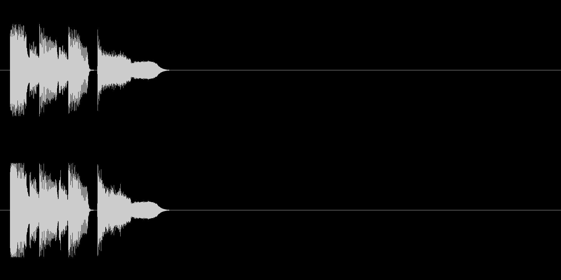 イベント等に使えるコミカルなジングルの未再生の波形