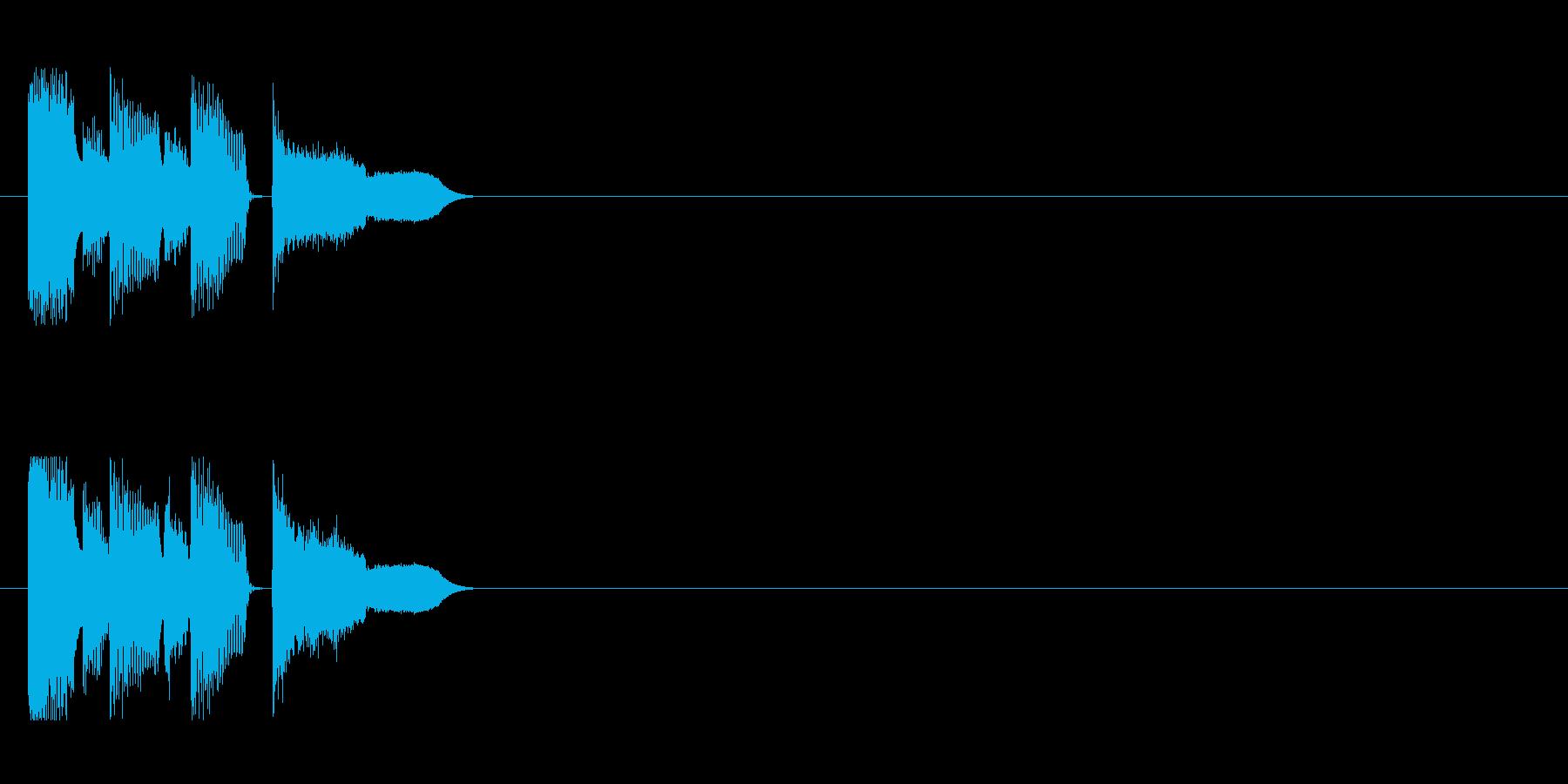 イベント等に使えるコミカルなジングルの再生済みの波形
