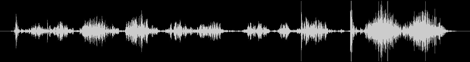 ボールペンで サインする音の未再生の波形