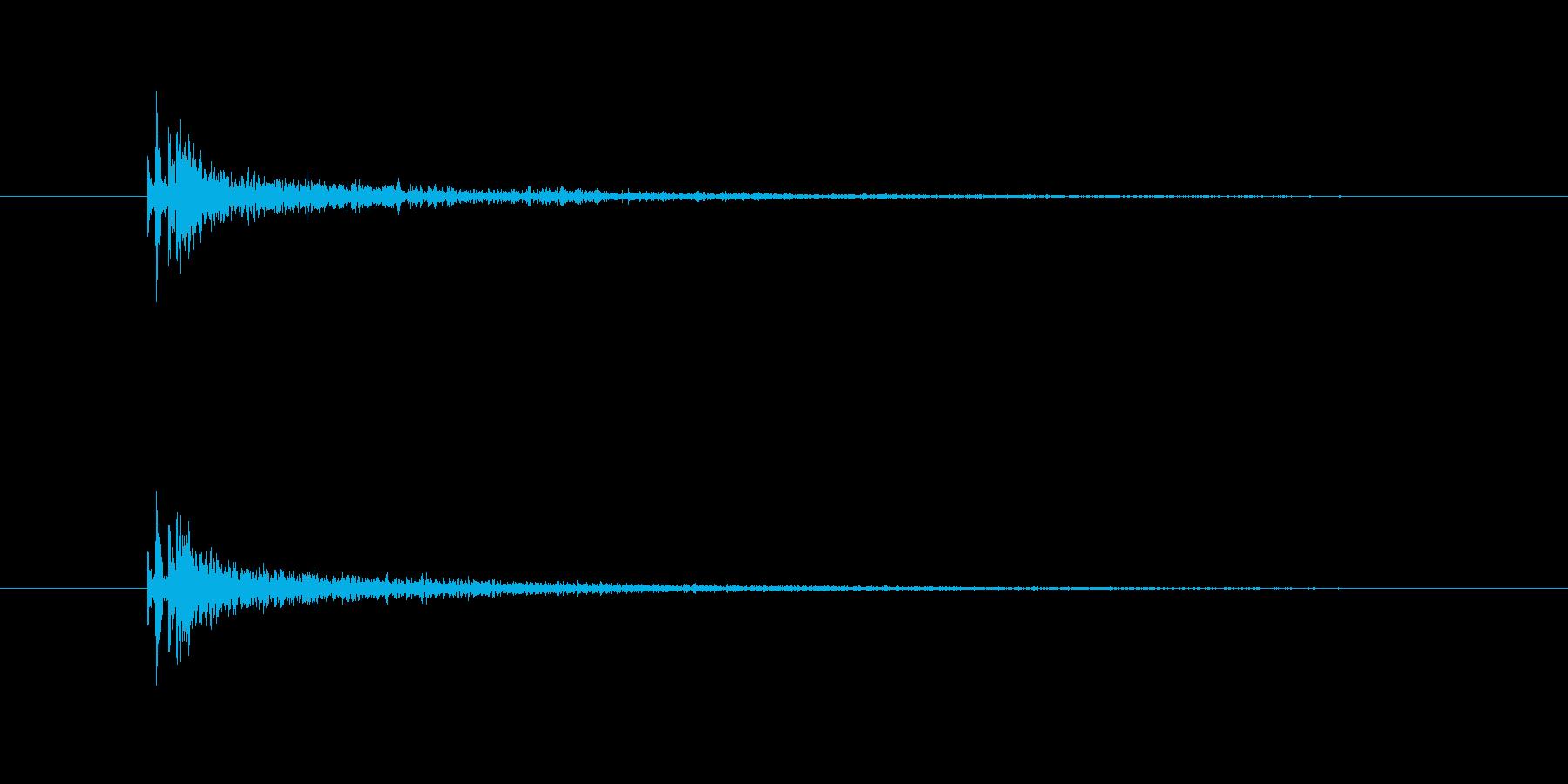 銃声(残響長め)の再生済みの波形