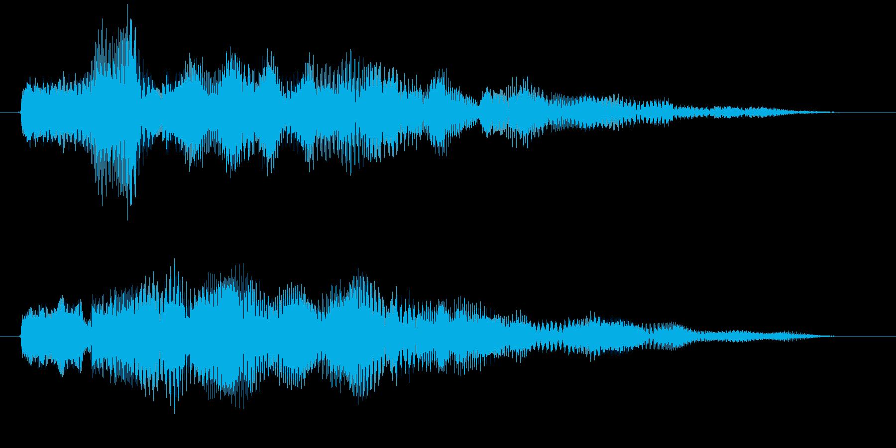 カウントダウン 単発 決定 選択 の再生済みの波形