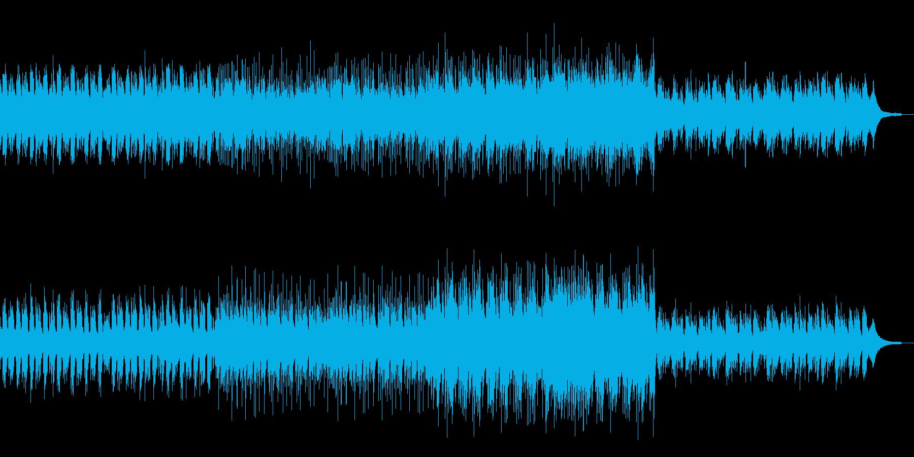 優しくも力強いピアノ曲の再生済みの波形