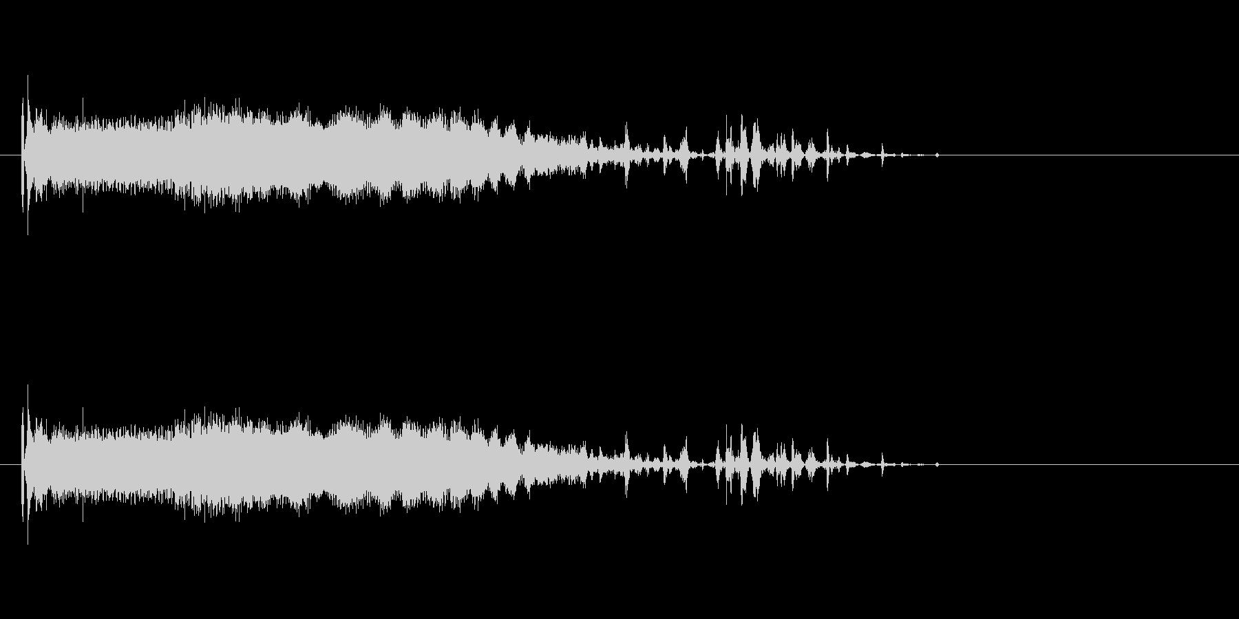 ピキャーァァンの未再生の波形