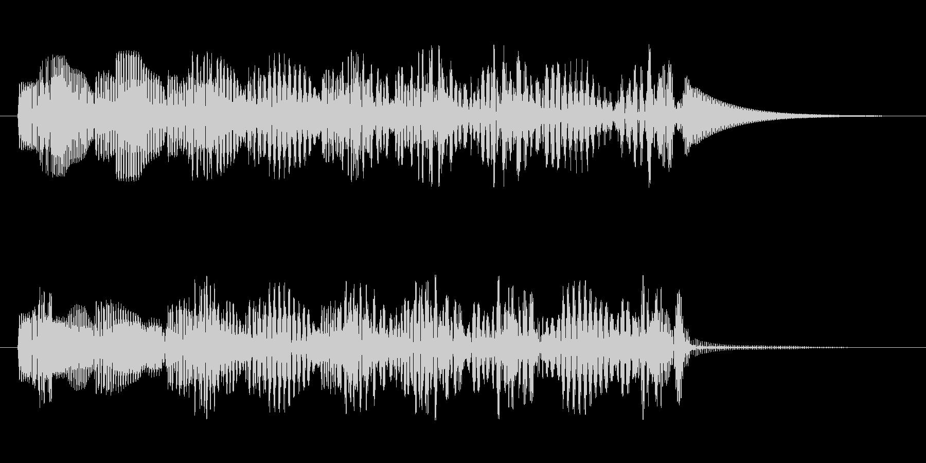 効果音的なワンポイント音です。の未再生の波形