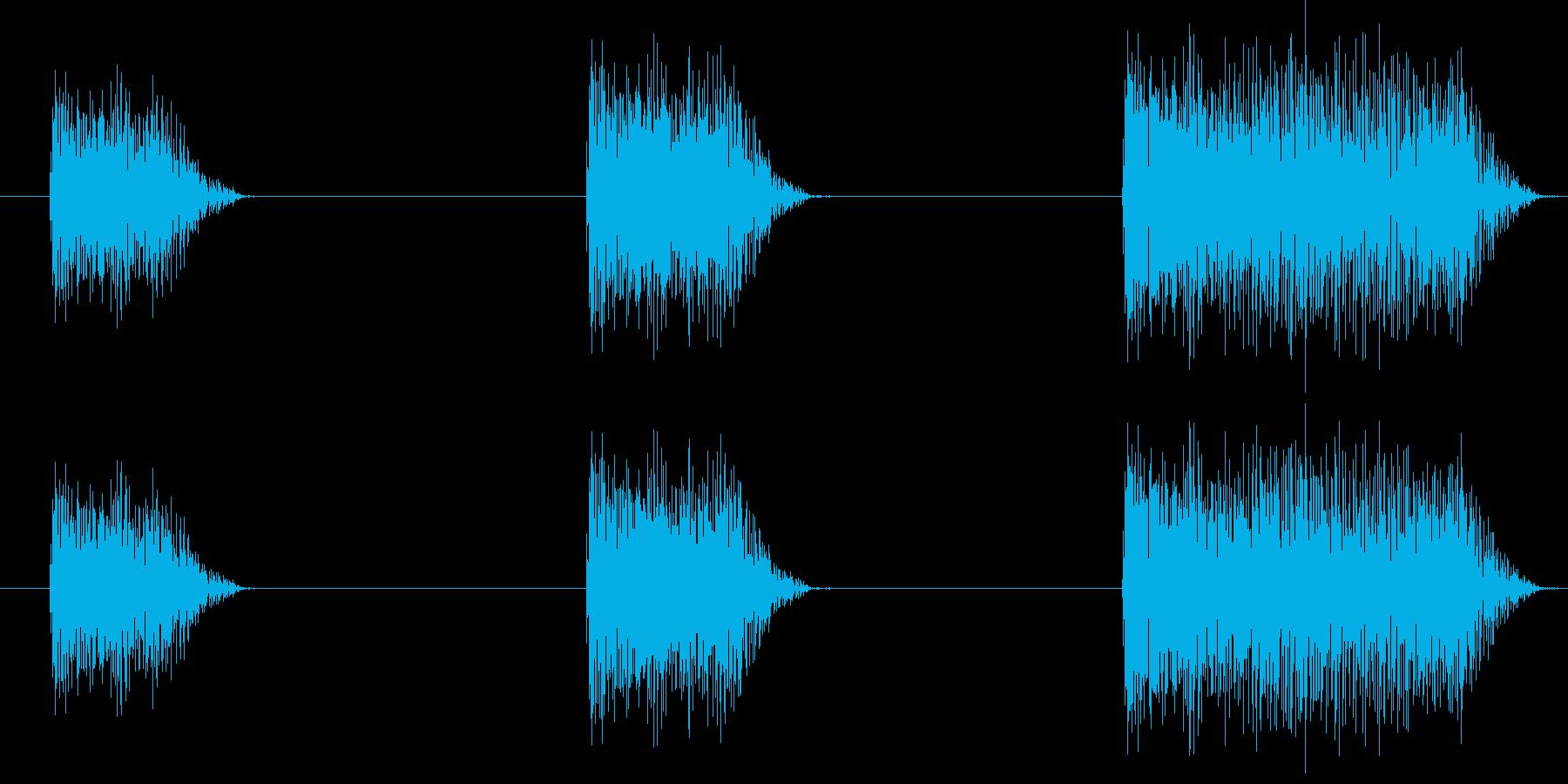 ガッガッガーッ (星人の声)の再生済みの波形