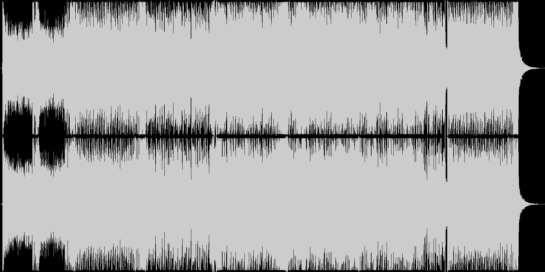 エレキギターのシリアスな戦闘曲風BGMの未再生の波形