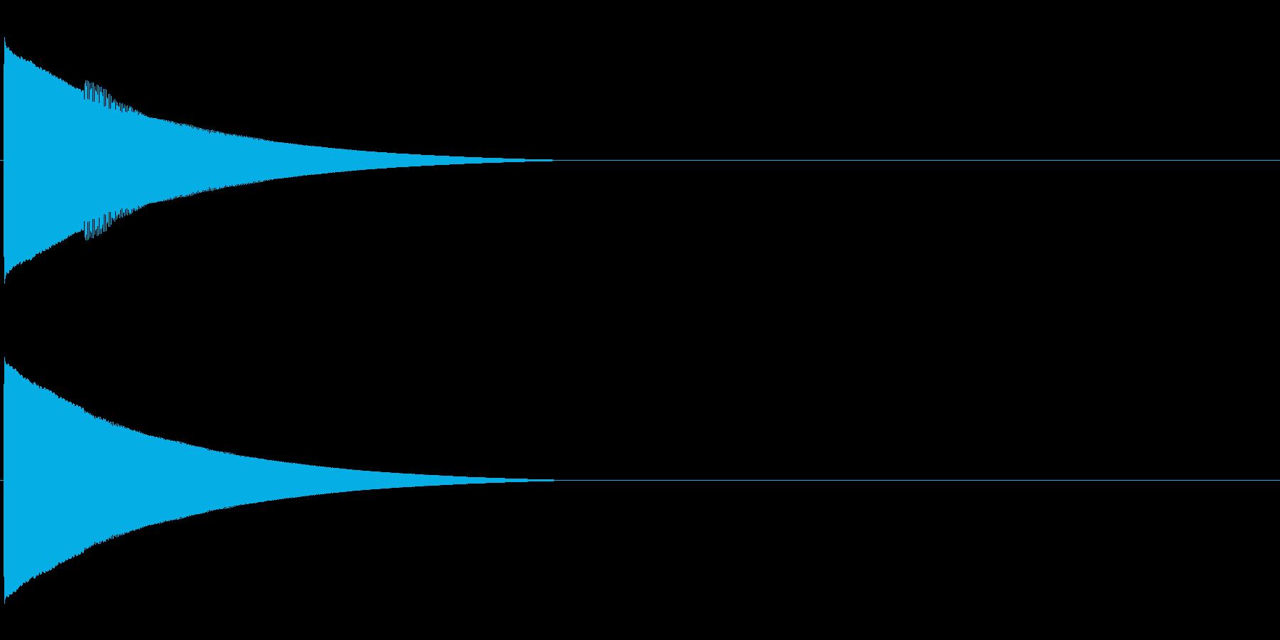 ピローン、ピコーンといった効果音 高いソの再生済みの波形