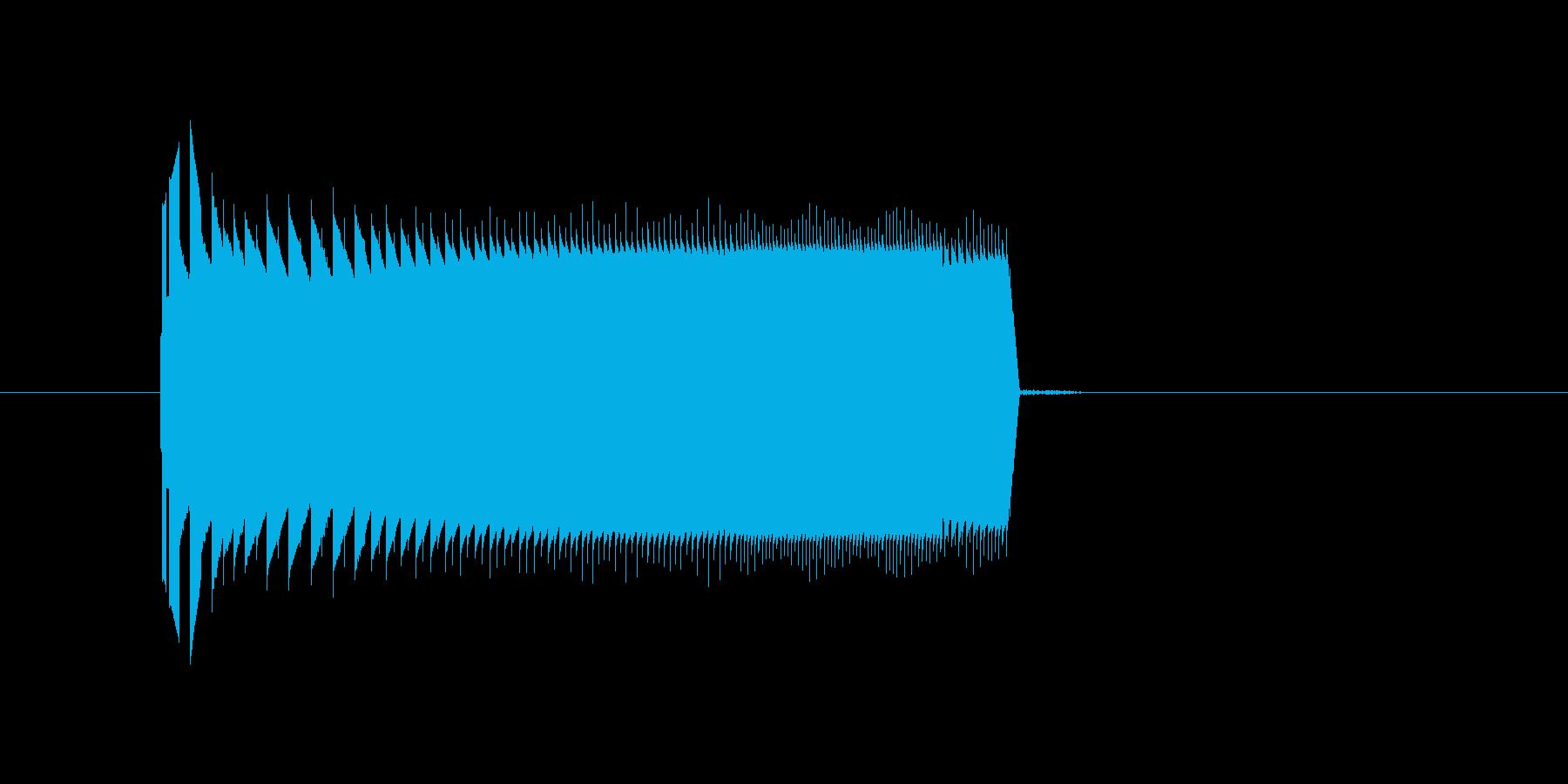 レトロゲームの雰囲気の決定音。ピロッ。の再生済みの波形