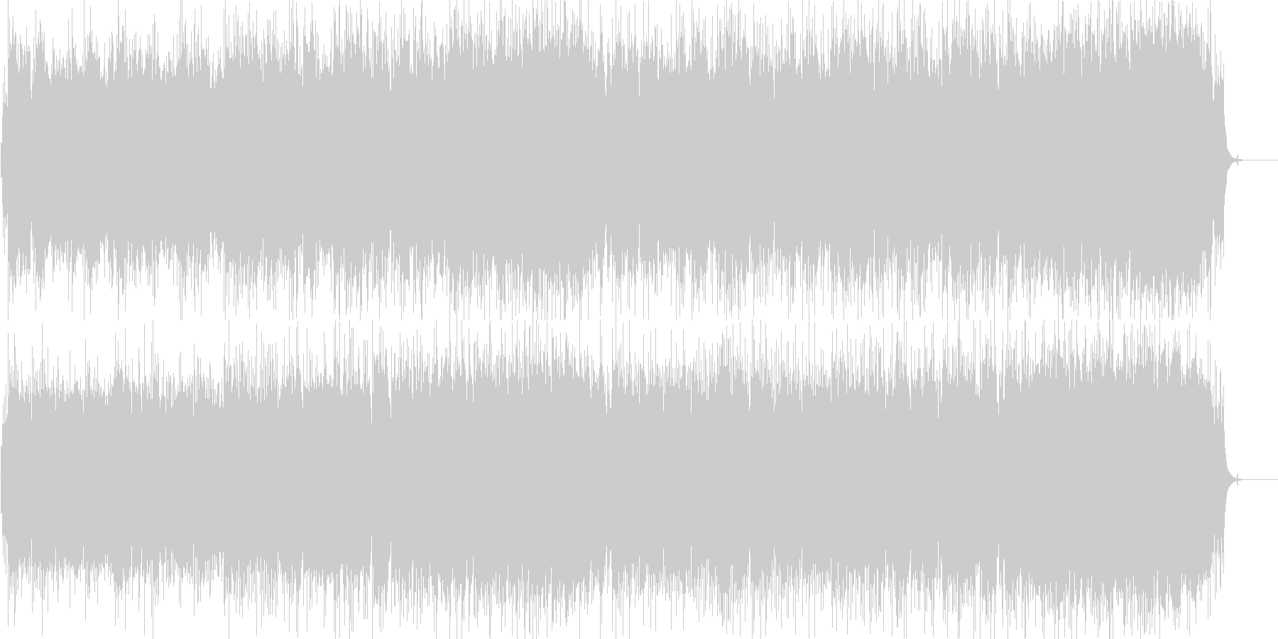 ラブロマンスのオープニング風切ない曲の未再生の波形